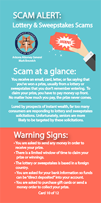 scam-alert card with tips