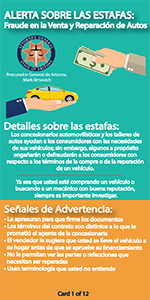 Auto fraud tips in spanish